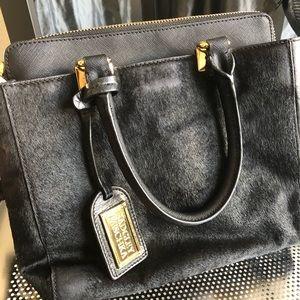 Badgley Mischka pony hair purse